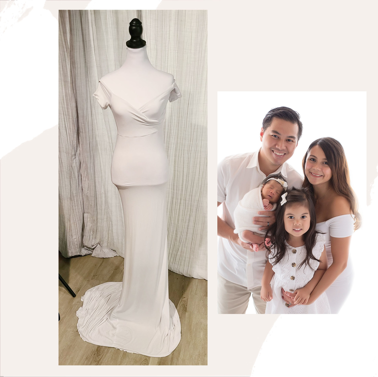 connecticut maternity gown white